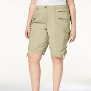 Style & Co Zippered Cargo Short Size 22W